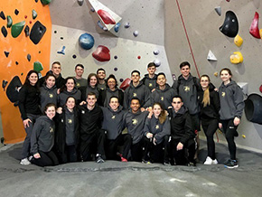 CDT Bradley '22 1st at Bouldering Competition