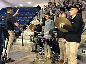 Spirit Band Supports Basketball in Annapolis