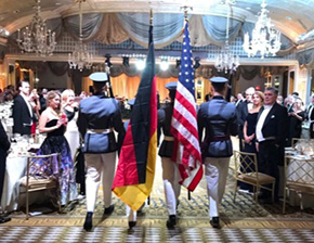 Drill Provides Color Guard Support at the Quadrille Ball