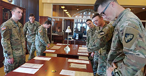 Cadets Visit USMA Library Special Collections