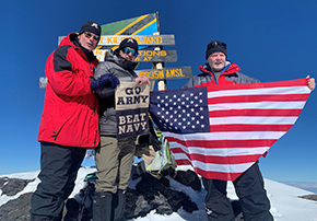 Magness '86, Fallin '88, and Brennan '88 Summit Mount Kilimanjaro