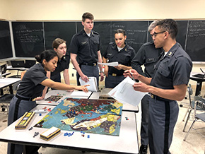 Cadets Learn About Military Strategies During WWI