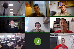 Cadets Virtually Interact with Junior ROTC H.S. Students