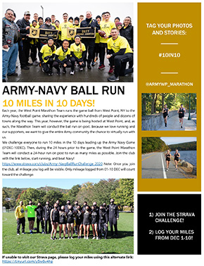 Army-Navy Ball Run Challenge