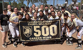 Army Softball Coach Milligan Earns 500th Career Win