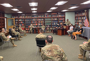 BG Jebb Stops by the History Department