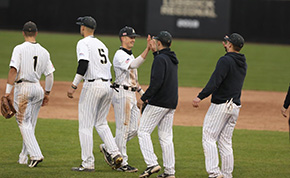 Baseball Finishes Off Series Split with Lafayette