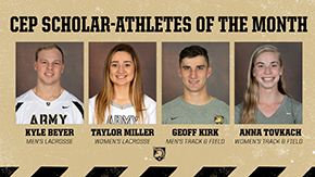 Beyer, Miller, Kirk and Tovkach Named March CEP Scholar Athletes