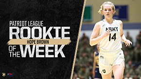 Brown Takes Home Patriot League Rookie of the Week Award
