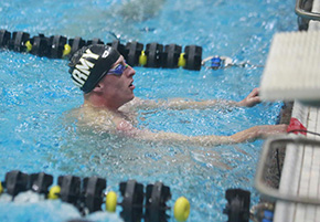 Men's Swim & Dive Rank Second at League Championships