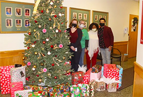 Curtis '23 was Santa for Many Children this Year
