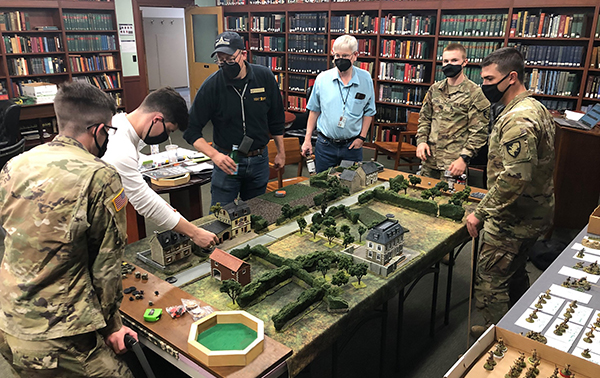 Cadet Wargames Day in Clausewitz Library