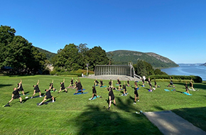 Cadet Yoga Club at Trophy Point