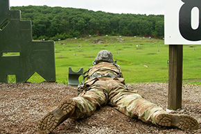Cadet Cadre Learn to Lead from the Front During CBT