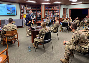 Cadets Briefed on Weapons of the Civil War