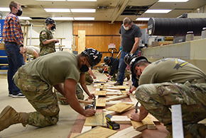 Cadets Build Full-Scale Wood Trusses