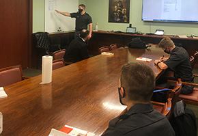 Cadets Discuss Latin Language Distinction
