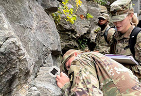 Cadets Gain Hands-On Geology Experience