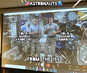 Cadets Interact with The International Space Station