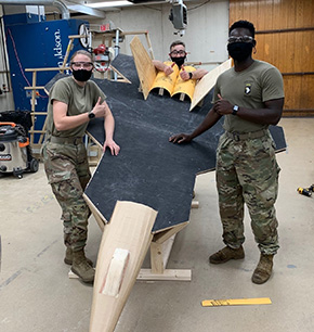Cadets Prepare for the Beat Air Force Bonfire