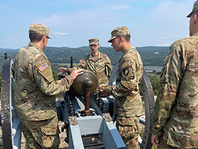 Cadets Tour Revolutionary War Fortifications