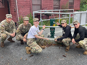 Cadets Tour Target Hill & Buckner Wastewater Treatment Plant