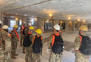 Cadets Visit the Bradley Barracks Renovation Project
