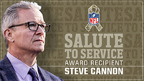 Cannon '86 Named NFL's Salute to Service Award Recipient