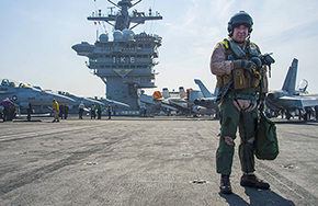 CAPT Campagna '93 West Point's First Aircraft Carrier Commander