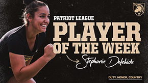 Dolehide Garners Patriot League Weekly Honors
