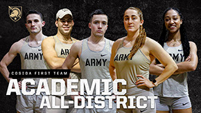 Five Black Knights Named Academic All-District