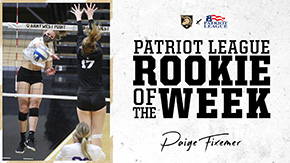 Fixemer Named Patriot League Rookie of the Week