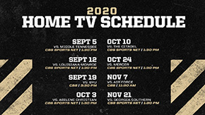 Football Announces TV Schedule for All Eight Home Games