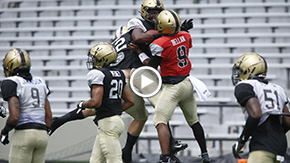 Football Closes Camp with Saturday Scrimmage