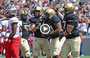 Football Holds Off Western Kentucky in Home Opener