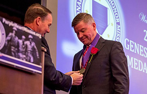 GEN(R) Perkins '80 Awarded the Genesis Medal