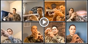 """God Bless America"" by Trumpet Players from Across the U.S. Army"