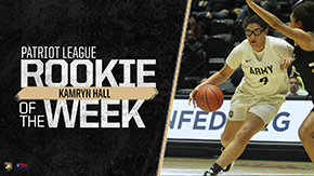Hall Tabbed Patriot League Rookie of the Week