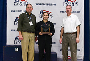 Hallstead Named Patriot League Female Diver of the Meet