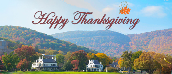 Happy Thanksgiving from Your Rockbound Highland Home