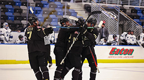 Hockey Fights Back For Road Victory
