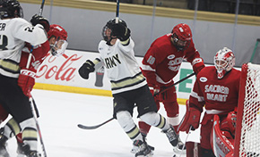 Hockey Tops Sacred Heart in Three OT Thriller