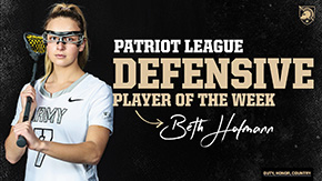 Hofmann Tabbed Patriot League Defensive Player of the Week