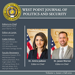 """Inaugural Issue of """"The West Point Journal of Politics and Security"""""""