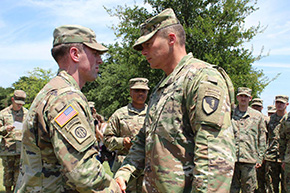 CPT Barry '14 Honored for Saving Life of Duty