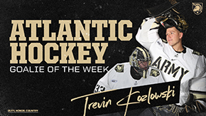 Kozlowski Garners Goalie of the Week Honors
