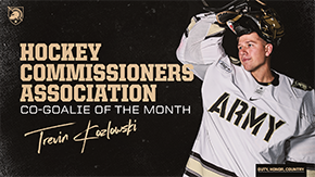 Kozlowski Named HCA Co-Goalie of the Month