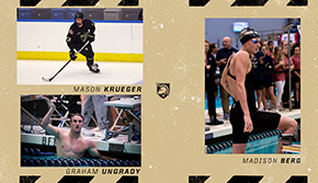 Krueger, Berg and Ungrady Named December Scholar Athletes