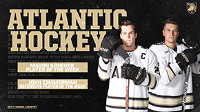 Krueger, Zimmerman Claim Atlantic Hockey Honors