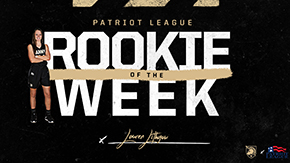 Lithgow Named Patriot League Rookie of the Week
